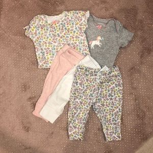 Carter's Onesies and Pants Set